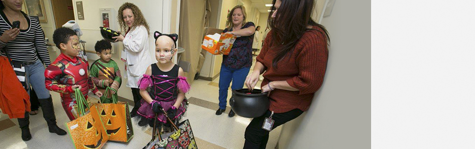 Our pediatric hematology/oncology patients enjoy celebrating Halloween at Stony Brook Cancer Center