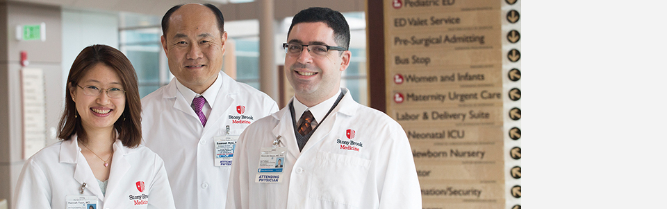 Samuel Ryu, MD,  welcomes Alexander Stessin, MD, PhD, and Hannah Yoon, MD